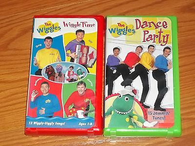 Lot Of 7 Wiggles Vhs Magical Space Wiggly Safari Yummy