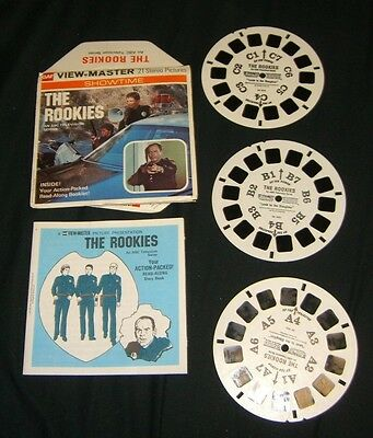 THE ROOKIES SHOWTIME 1975 ABC SHOW View-Master Reels GAF HARD TO FIND HTF RARE