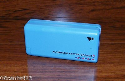 Automatic Handheld Electronic Battery Operated Light Blue Desktop Letter Opener