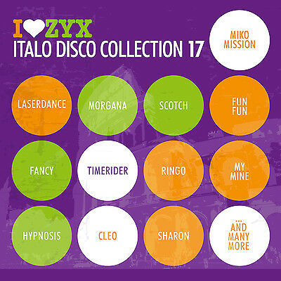 CD ZYX ITALO DISCO COLLECTION 17 by Various Artists 3 CDs
