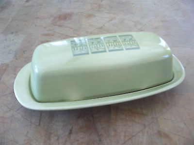Taylor Smith & T S T OASIS GREEN  Shades Of Grandeur 1/4 # Covered Butter Dish
