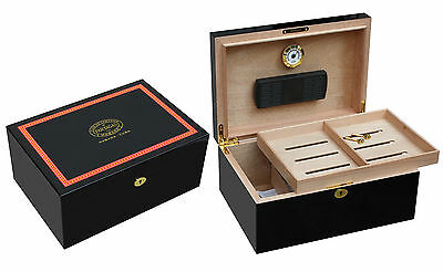 Stunning Large Piano Finished Partagas 100 Cigar Humidor