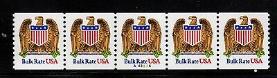 #2602 Eagle & Shield PNC5  Pl #A43326 - MNH