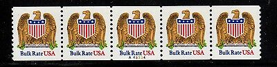 #2602 Eagle & Shield PNC5  Pl #A43334 - MNH