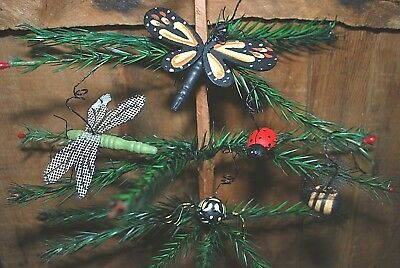 5 Hanging Ornaments  - Butterfly, Dragonfly, Bumble Bee, Spider, LadyBug