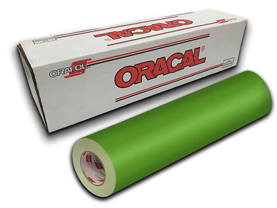 """24"""" X 5yd - Lime Green Oracal 651 Intermediate Graphic & Sign Cutting Vinyl"""