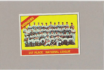 1966 Topps #238, Los Angeles Dodgers Team Card- Ex+