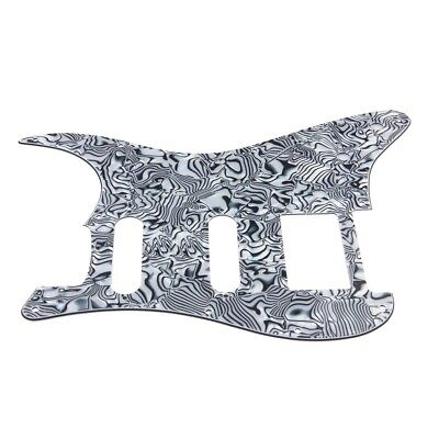 Guitar Pickguard Scratch Plate For Strat Style Black And White Shell 3 Ply HSS
