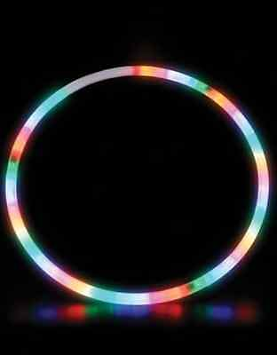 NEW 28 Inch LED Lighted Twist Hula Cosmic Glow Hoola Hoop