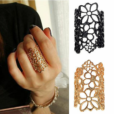 Size 8 Europe Fashion Design Bohemian Style Hollow Out Lace Flower Ring