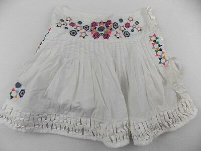 new 8y fit 7y OILILY pretty girls designer white summer lined skirt NWT