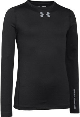 Under Armour ColdGear Evo Fitted Comp Long Sleeve Junior Top - Black