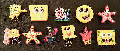 11 Spongebob Squarepants crocshoe charms crocs jibbitz wristbands