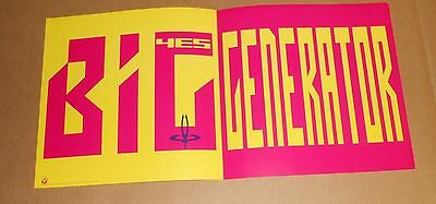 Yes Big Generator Original Promo 1987 Double Sided Poster 25x12