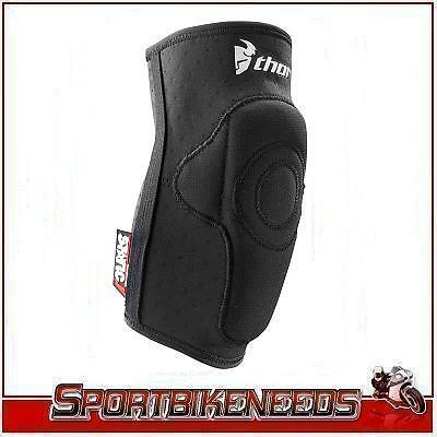 Thor Static Black White Elbow Guards New Large/Xlarge L/XL