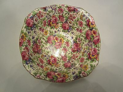 Royal Winton Summertime Fruit Dessert Bowl Floral Chintz Grimwades England EUC