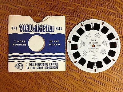 Vintage View-Master Reel 2017 St. Moritiz Switzerland
