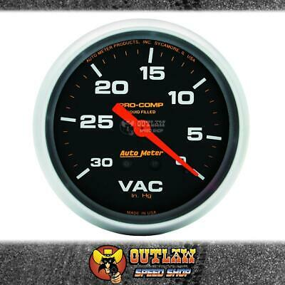 "Autometer Vacuum Gauge Liquid Filled 2.5/8"" 0-30 In Hg - Au5484"