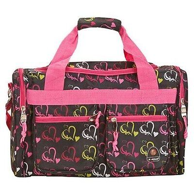 "Rockland Bel-Air 18"" Carry-On Tote Duffel Bag - Hearts Pattern"