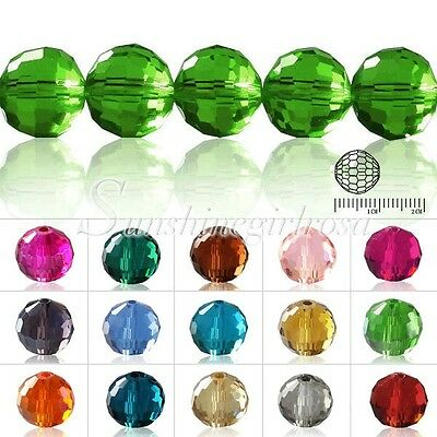 5003 72Pcs Crystal Disco Ball Faceted Beads 10mm Fit Bracelet Jewelry Making