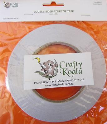 Buy 2 get 1 free Crafty Koala Double Sided Tape - 6mm x 50m Acid & Photo Safe
