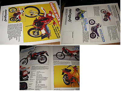 MALAGUTI  - brochure anni '80 -100% German - RONCO- RUNNER -Fifty-grizzly-TRyke