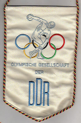 Orig.silk pennant   Olympic Games MEXICO 1968 / GDR Olympic Comittee  !!  RARITY