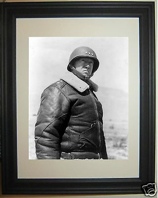 General George S. Patton World War 2 WWII Framed Photo Picture  #h1