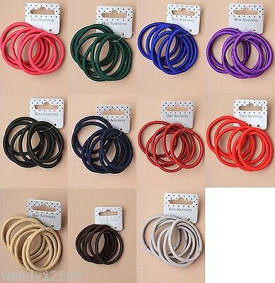 Pack Of 6 Cards Of Endless Snag Free Hair Elastics, Bobbles, Ponios (6/card)