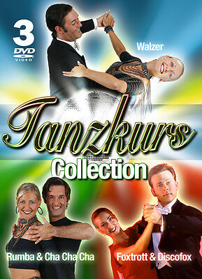 DVD Let's Dance Tanzkurs Collection 3dvds con Valzer Foxtrot Disco Fox Rumba