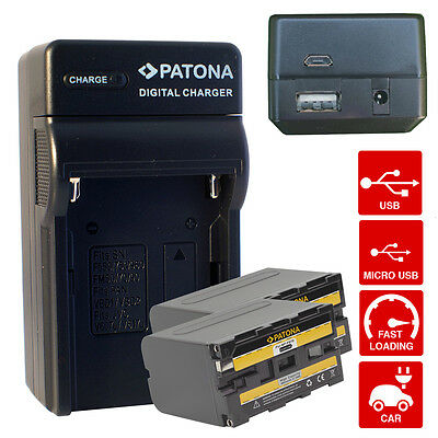 4en1 Chargeur + 2x Batterie pour NP-F970 Sony Camcorder CCD-TR Series CCD-TRV