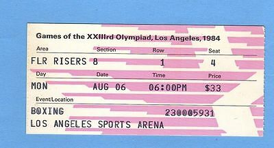 Orig.ticket   Olympic Games LOS ANGELES 1984 - BOXING / 06.08.1984 !! VERY RARE