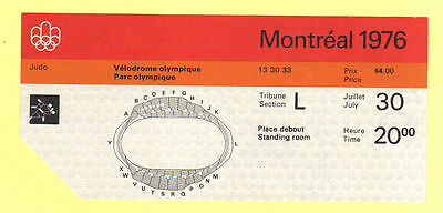 Orig.Ticket   Olympic Games MONTREAL 1976 - JUDO / 30.07.  !!  VERY RARE