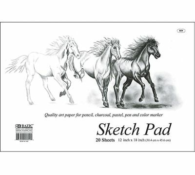 """LOT of 4 Sketch Paper Pad 20 ct. large 18"""" x 12"""" Drawing Art"""