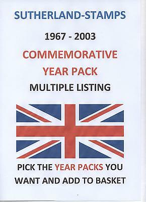 YEAR PACKS GB MINT 1967 - 2006 Commemorative  YEAR PACK - MULTI LISTING