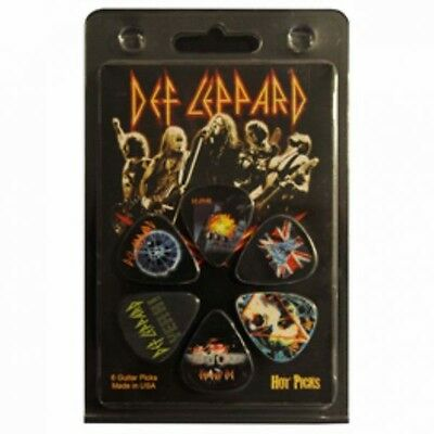 Def Leppard Officially Licensed Guitar Hot Picks 6 Pack Collectable HP-DF1