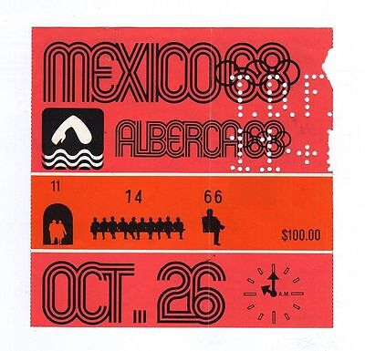 Orig.Ticket   Olympic Games MEXICO 1968 / SWIMMING - last Day / 5 FINAL`s ! RARE