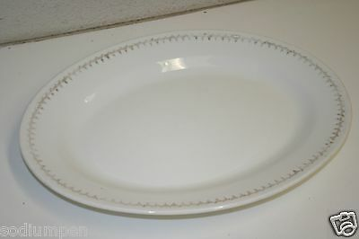 WOW Old Vintage Homer Laughlin GENESEE China Dinner Plate Gold Edge Rare