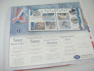 Creative Memories Sassy Short Cuts Pre-Cut Photo Mounting Paper 104 Pieces New