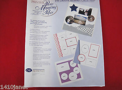 Creative Memories 10x12 Printed Photo Mounting Paper  26 Sheets NOS