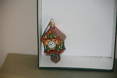 Cuckoo Clock Old World Christmas glass ornament