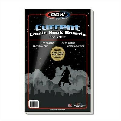 Case /1000 BCW Current / Modern Comic Book Backing Boards Acid Free White Backer