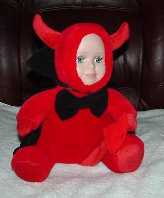 SEYMOUR MANN DOLL PLUSH VERY CUTE  BABY DOLL RED COSTUME L@@K