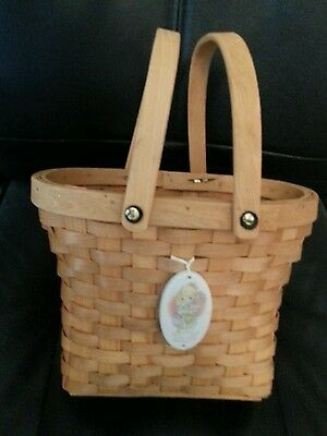PRECIOUS MOMENTS: Basket: Member's Only, It's Time To Bless Your Own Day Basket