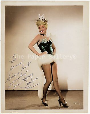 Autograph 8x10 Photograph of Betty Grable ~ Mrs. Harry James~95005