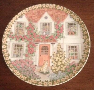 Vintage Andrea By Sadek Dog & Cats In Windows Summertime Decorative Plate