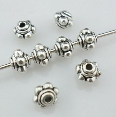 100pcs Tibetan Silver Small Lantern-shaped Spacer Beads 5x4mm(Lead-free)
