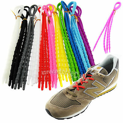 Elastic X-Tie Soft Silicone Lazy Shoelaces Shoe Lace Cable Running Sport LOT