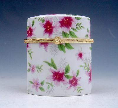 Gorgeous Flower Blossoms Painted Polygon Porcelain Toothpick Holder #111713B4