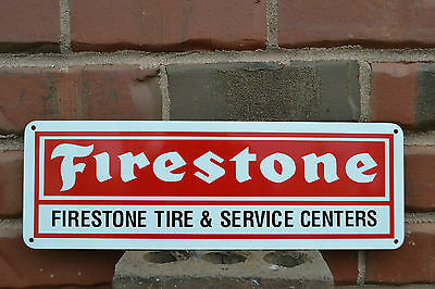 FIRESTONE TIRES SIGN SERVICE CENTER REDLINE MUSCLE CAR